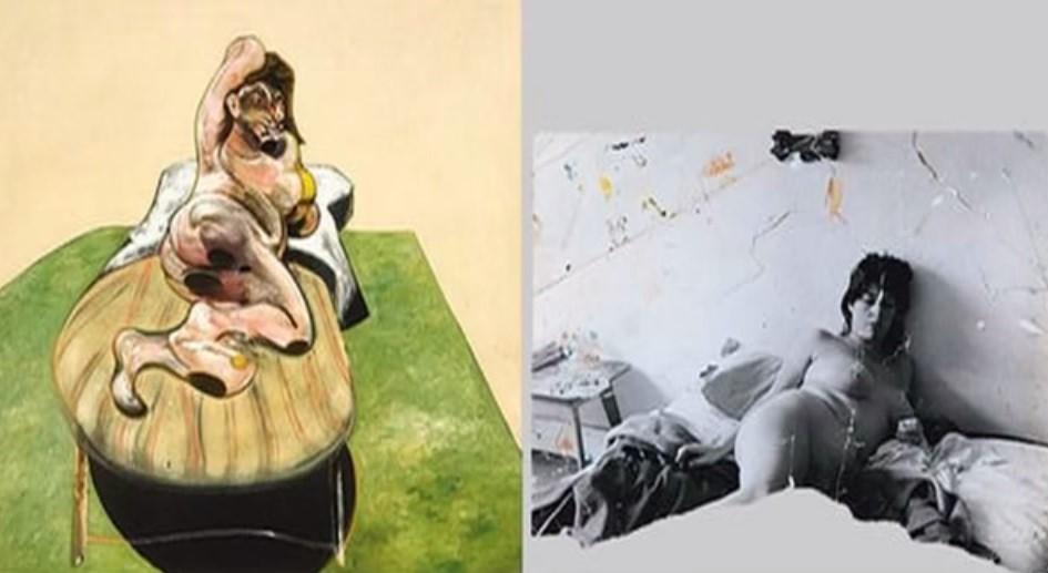 La fotografia viene sottoposta a tagli e alacerazioni, prima di divenire matrice dell'opera pittorica